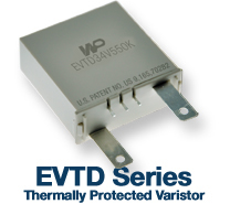EVTD Thermally Protected Varistor